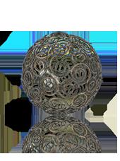Boule en métal déco Spirales 100mm