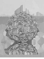 Boule en métal déco Cercles 80mm