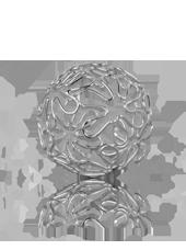 Boule en métal déco Fleurs 60mm