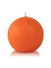 Bougie ronde Orange 7cm
