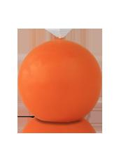 Bougie ronde Orange 7cm