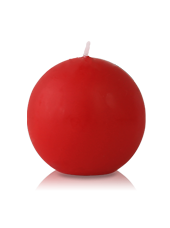 Bougie ronde Rouge 7cm