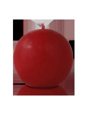 Bougie ronde Carmin 7cm