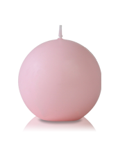 Bougie ronde Rose 7cm