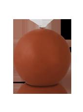 Bougie ronde Caramel 7cm