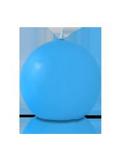 Bougie ronde Bleu Turquoise 7cm