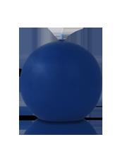 Bougie ronde Bleu Saphir 7cm