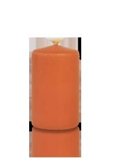 Bougie cylindre Citrouille 6x10cm