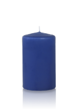 Bougie cylindre Bleu Saphir 6x10cm
