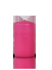 Bougie cylindre Fuchsia 6x10cm