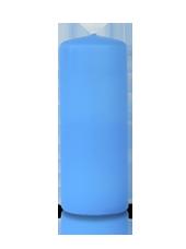 Bougie cylindre Bleu Turquoise 6x15cm