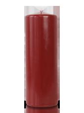 Bougie cylindre Bordeaux 7x20cm