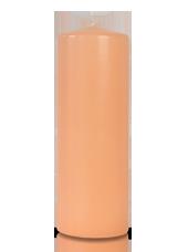 Bougie cylindre Rose Poudré 7x20cm