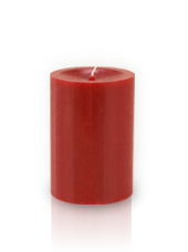 Bougie cylindre premium Rouge 7x10cm
