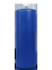 Bougie cylindre Bleu Saphir 7x20cm