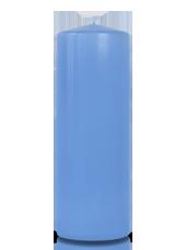 Bougie cylindre Bleu Arctique 7x20cm