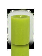 Bougie cylindre premium Vert kiwi 7x10cm