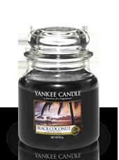 Moyenne jarre Noix de Coco Noire 10,7x12,7cm