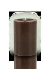 Bougie cylindre premium Chocolat 7x10cm