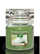 Moyenne jarre Vanille Citron Vert 10,7x12,7cm