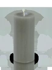 Bougie cylindre premium Grise 7x15cm