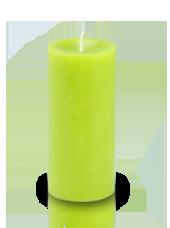 Bougie cylindre premium Vert kiwi 7x15cm