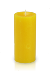 Bougie cylindre premium Jaune 7x15cm