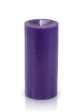Bougie cylindre premium Violet aubergine 7x15cm
