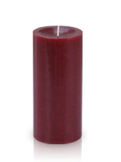 Bougie cylindre premium Rouge carmin 7x15cm