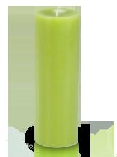Bougie cylindre premium Vert kiwi 7x20cm