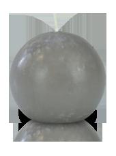 Bougie ronde premium Grise 8cm