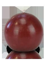 Bougie ronde premium Rouge carmin 8cm