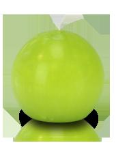 Bougie ronde premium Vert kiwi 8cm