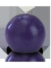 Bougie ronde premium Violet aubergine 8cm