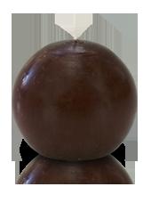 Bougie ronde premium Chocolat 8cm