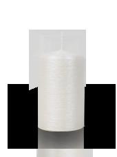 Bougie pilier striée Perle 6x10cm