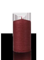 Bougie pilier striée Rouge 6x10cm
