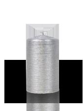 Bougie pilier striée Argent 6x10cm