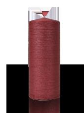 Bougie pilier striée Rouge 6x15cm