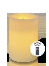 Bougie pilier LED Ivoire 7x10cm télécommandée