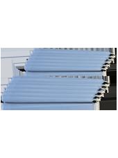 Pack de 12 chandelles Bleu Arctique 23x25cm