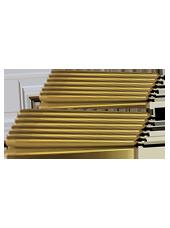 Pack de 12 chandelles Or 23x25cm