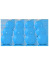 Pack de 12 bougies ronde Bleu Turquoise 7cm