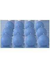 Pack de 12 bougies ronde Bleu Arctique 7cm