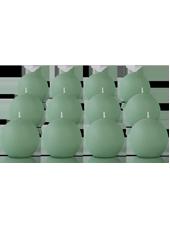 Pack de 12 bougies ronde Menthe 7cm