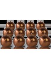 Pack de 12 bougies ronde Bronze 7cm