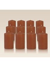 Pack de 12 bougies cylindres Caramel 6x10cm