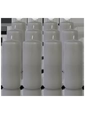 Pack de 12 bougies cylindres Gris 6x15cm