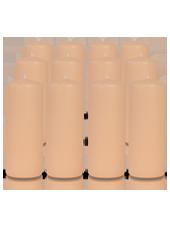 Pack de 12 bougies cylindres Rose Poudré 6x15cm