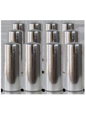 Pack de 12 bougies cylindres Argent 6x15cm